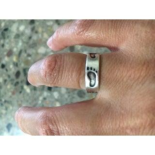 Sterling Silver Footprint Ring