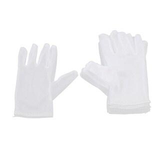 Unique Bargains 5 Pcs Unisex Elastic Full Fingers Labor Working Work Gloves L