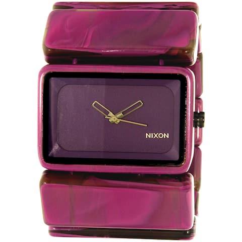 Nixon Women's Vega Purple Plastic Quartz Fashion Watch