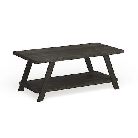 The Gray Barn Cedar Ridge Contemporary Replicated Wood Shelf Coffee Table