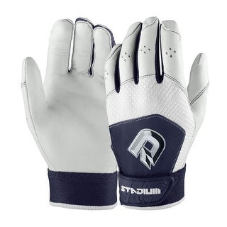 DeMarini Stadium II Baseball Batting Gloves for Men (Navy Blue, Medium)