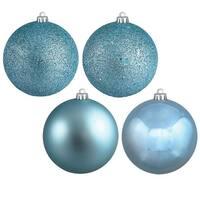 Vickerman  Baby Blue 4 Finish Ball Ornament, 6 in. - Box of 4
