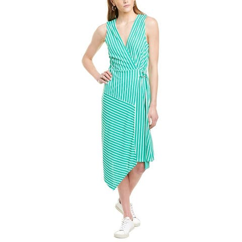 Wayf Striped Wrap Dress
