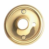 Pair Solid Brass Classic Rosette 2 1/2 w/ Privacy Pin Hole | Renovator's Supply