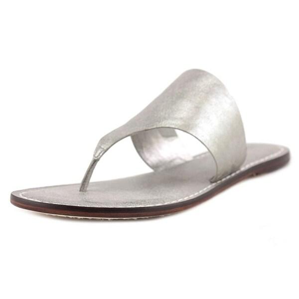 Bernardo Monica Women Open Toe Suede Silver Thong Sandal