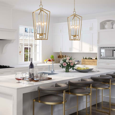 "Modern 4-lights Pendant Lighting Chandelier Light Fixture for Kitchen,Dining Room - W14""xH28.3"""