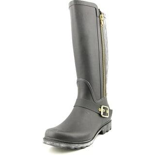 Steve Madden Northpol Women Round Toe Synthetic Black Rain Boot