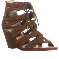 I35 Witley Lace-Up Wedge Sandals, Walnut