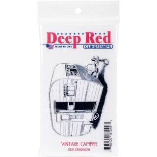 Deep Red Stamps Vintage Camper Rubber Cling Stamp - 3 x 2.2