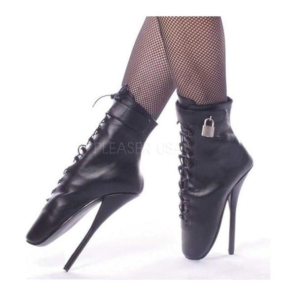 Devious Women's Ballet-1025 Black Leather
