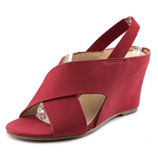 Matisse Harlow Women Open Toe Leather Red Wedge Sandal