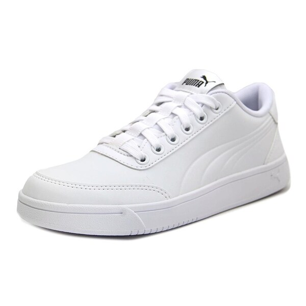 Shop Puma Court Breaker L Mono Youth Leather White Fashion Sneakers ... 59f60c0c5