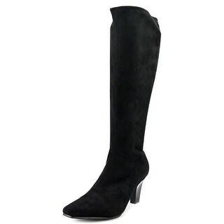 Aerosoles Risky Pizness Women  Pointed Toe Canvas Black Knee High Boot