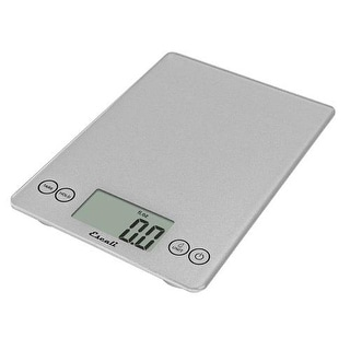 Escali Scales - SCDG15SVR - 15 lb Silver Glass Digital Portion Scale