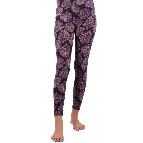 65664311a8663 Shop Lori & Jane Girls Purple Leaf Print Stretchy Trendy Soft Leggings - Free  Shipping On Orders Over $45 - Overstock - 26458543