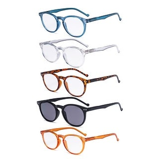 Link to Eyekepper Reading Glasses 5 Pack Oval Round Includes Sunshine Readers Similar Items in Eyeglasses