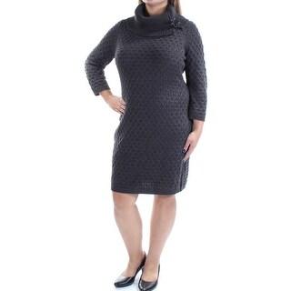 CALVIN KLEIN $134 Womens New 1164 Gray Dress 3/4 Sleeve Tunic Sweater XL B+B