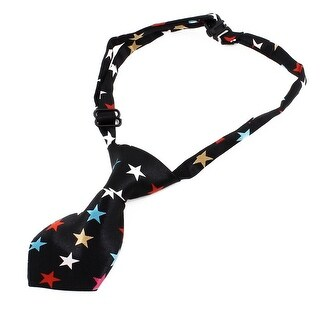 Unique Bargains Assorted Color Pre Tie Star Printed Adjustable Doggie Pup Dog Cat Pet Necktie