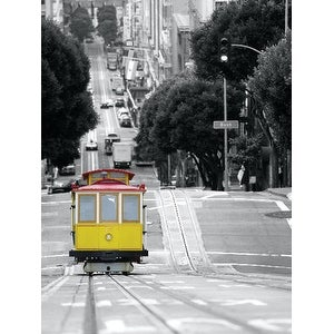 ''Cable Car in San Francisco'' by Photography Collection Transportation Art Print (31.5 x 23.5 in.)