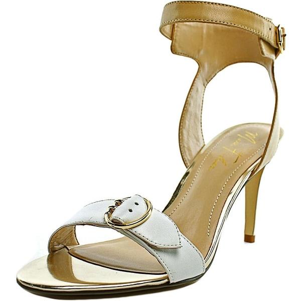 Marc Fisher Malika Women Open Toe Leather Nude Sandals