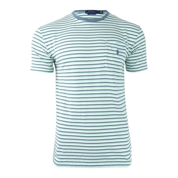 2801bf38 Shop Polo Ralph Lauren Men's Classic-Fit Striped T-Shirt - Green Multi - Free  Shipping On Orders Over $45 - Overstock - 21184889