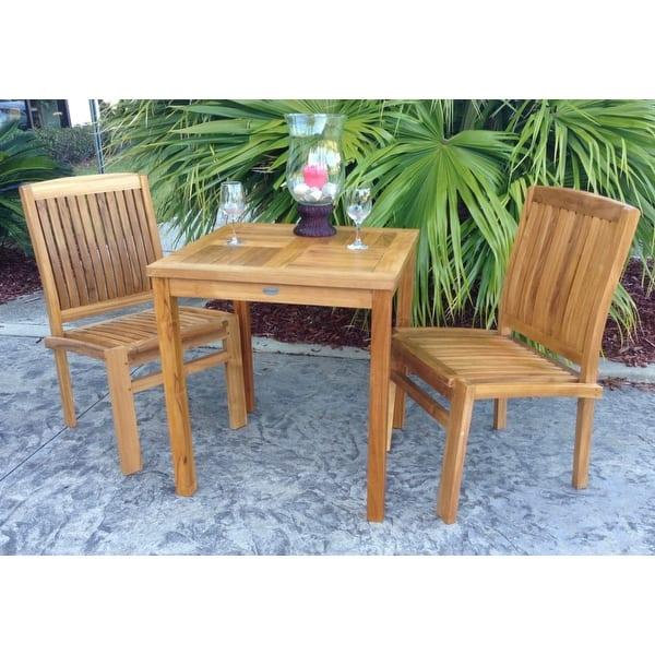 Shop Chic Teak Belize Teak Wood Indoor Outdoor Dining Side Chair Overstock 31477231