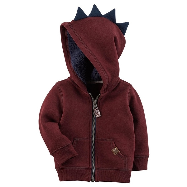 ed35cca1a4ed Shop Carter s Baby Boys  Zip-Up Spike Fleece Hoodie