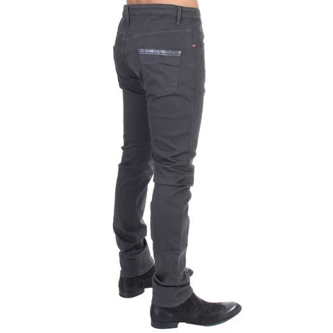 Costume National Gray cotton stretch slim fit Men's jeans