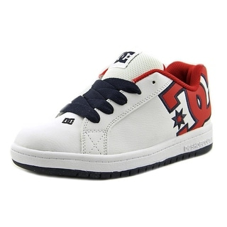 DC Shoes Court Graffik SE Youth  Round Toe Suede White Skate Shoe