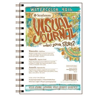 Strathmore Visual Watercolor Pad, 5-1/2 x 8 Inches, 90 lb, 34 Sheets