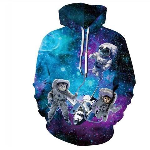 Men 3D Print Pullover Hooded Sweatshirt Hoodies