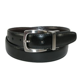 Dockers Boys' Leather Feather Edge 1 Inch Reversible Belt - black to brown