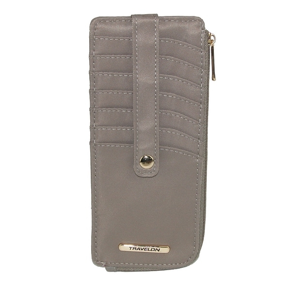 Travelon Women's RFID Blocking Tailored Slim Card Case Wallet - One size
