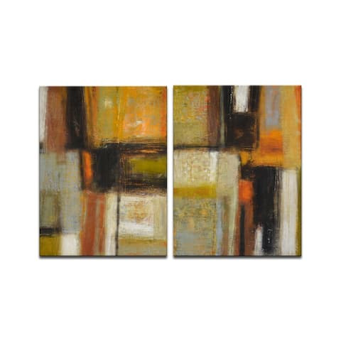 'New Earth I/II' 2 Piece Wrapped Canvas Wall Art Set by Norman Wyatt Jr.