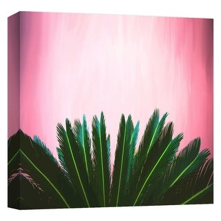 "PTM Images 9-124694  PTM Canvas Collection 12"" x 12"" - ""Tropical Leaves"" Giclee Palms Art Print on Canvas"