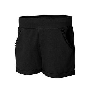 Hanes Girls' Ruffle Pocket Short - Size - S - Color - Black