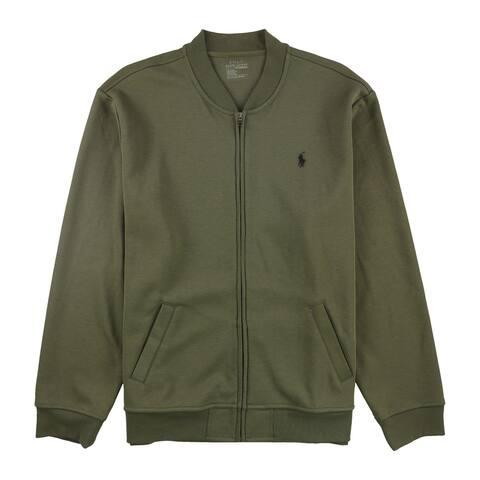 Ralph Lauren Mens Full-Zip Knit Jacket, Green, XX-Large