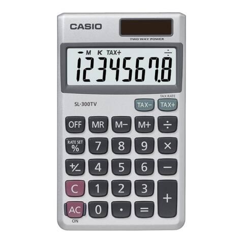 Casio sl300sv pocket calculator sl-300sv