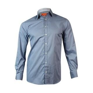 Tallia Men's Slim-Fit Sollid Cotton Dress Shirt (14 1/2/32-33), Silver) - 14.5/32-33
