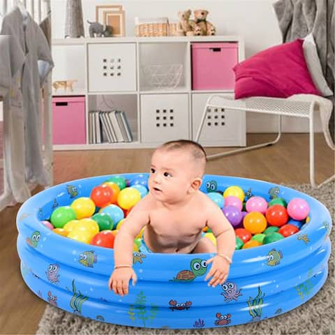 NewAge Garden Round Portable Inflatable Baby Child/Kid Swimming Pool Tub