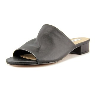 Steve Madden Briele Women Open Toe Leather Black Slides Sandal