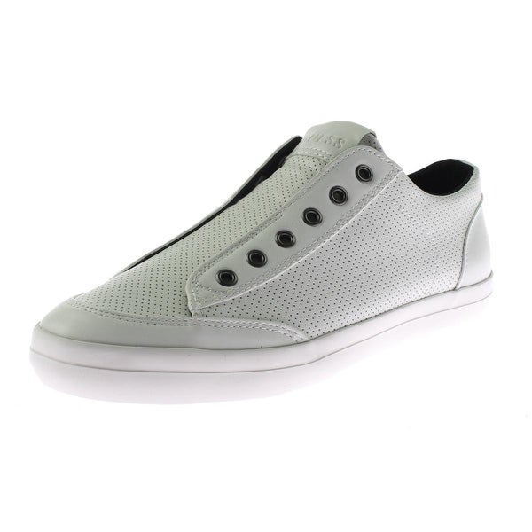 4b6e7ccbd36 Shop Guess Mens Mitt2 Fashion Sneakers Faux Leather Perforated - 9.5 medium  (d) - Free Shipping Today - Overstock.com - 19436858