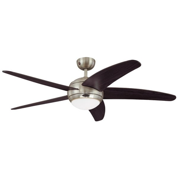 """Westinghouse 7255700 Bendan 52"""" 5 Blade Hanging Indoor Ceiling Fan with Reversible Motor, Blades, Light Kit, Remote, and Down"""