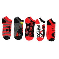 Marvel Deadpool Ankle Socks, 5-Pack - Red