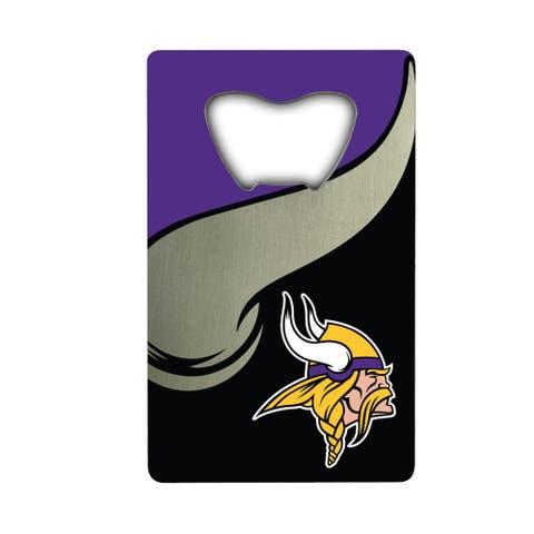 NFL - Minnesota Vikings Metal Credit Card Bottle Opener - 2in. X 3.25in.