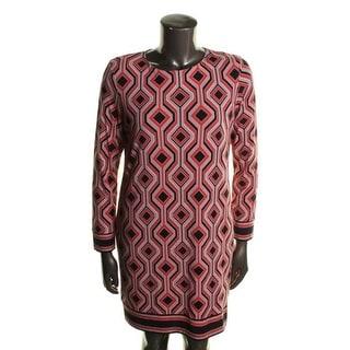 MICHAEL Michael Kors Womens Matte Jersey Long Sleeves Wear to Work Dress - XS