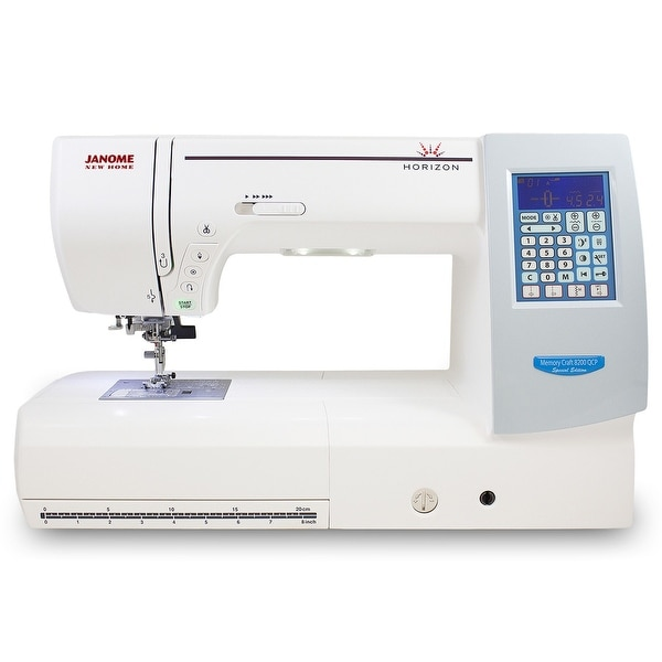 """Janome Memory Craft Horizon 8200QCP Special Edition - 10"""" x 18"""" x 10"""""""