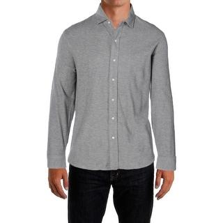 Polo Ralph Lauren Mens Button-Down Shirt Jacquard Long Sleeve