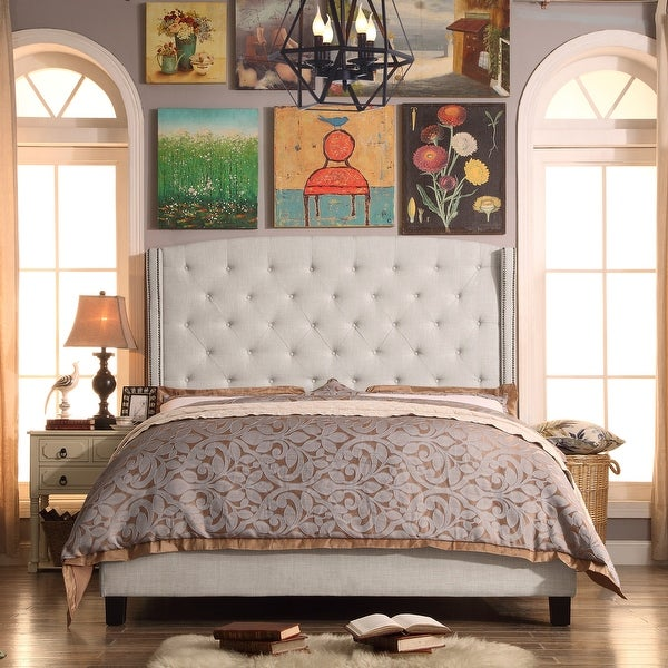 Copper Grove Maturin Traditional Upholstered Panel Bed. Opens flyout.