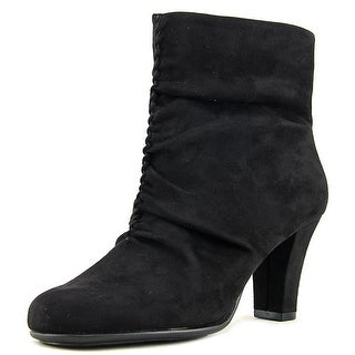 Aerosoles Good Role Women  Round Toe Canvas Black Ankle Boot
